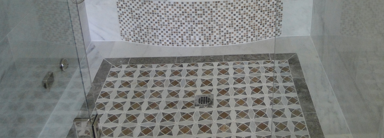 Custom Mosaic Shower Floor