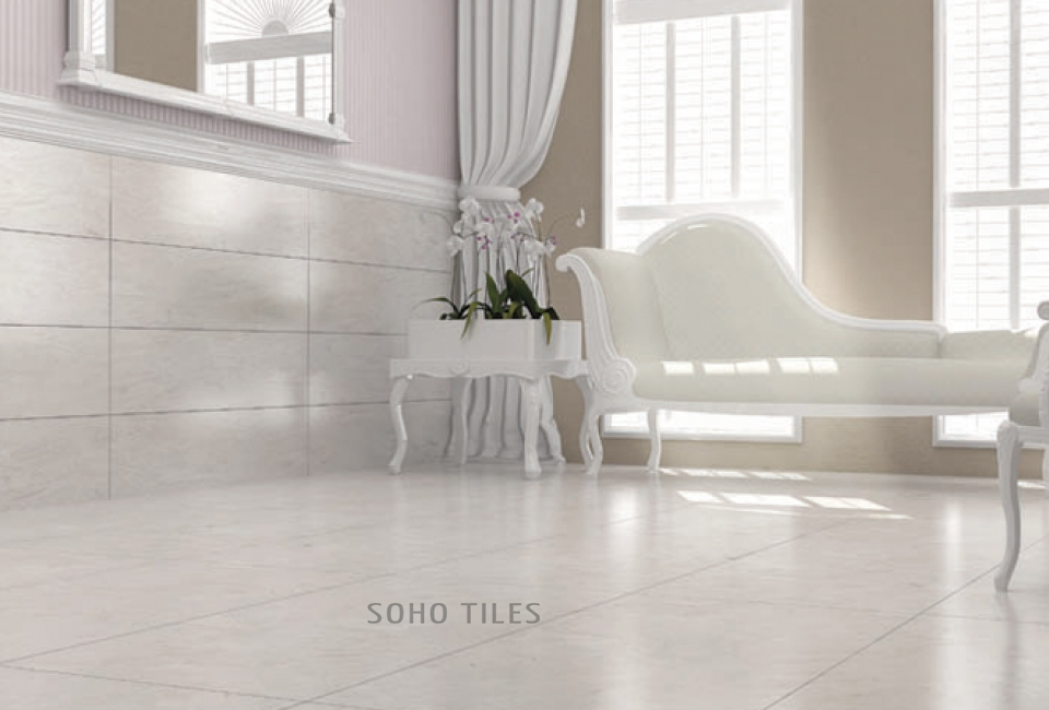 Luna White Porcelain Floor&Wall