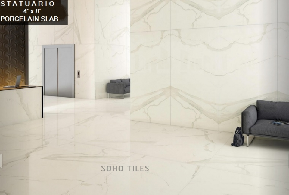 ALBATROS STATUARIO SLAB BOOK MATCH WALL&RANDOM FLOOR