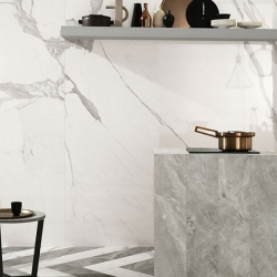 Serpegiante Grey Porcelain Floor& Brown wall